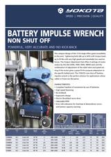 Yokota YZ-N serie Non-Off Battery Impulse Wrench