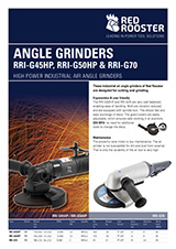 RED ROOSTER Angle Grinders RRI-G50HP & RRI-G70